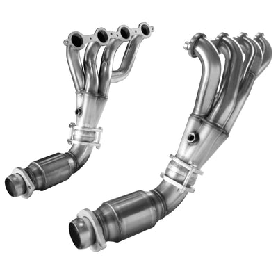 "2008-2009 G8 GT/GXP 1 7/8"" x 3"" Mid-Length Headers and GREEN Catted Connection Pipes"