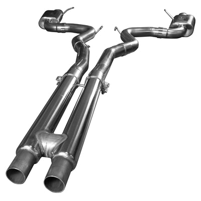 "2015+ Ford Mustang GT 5.0L OEM to 3"" Cat Back Exhaust w/ H-Pipe & Polished Tips"