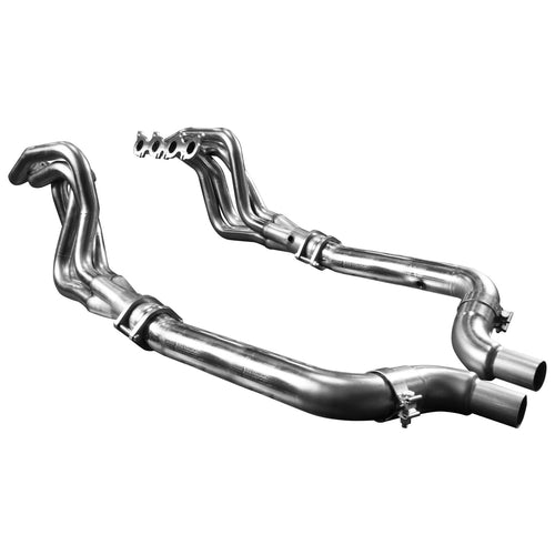 "2015 + Mustang GT 5.0L 1 7/8"" x 3"" Stainless Steel Long Tube Header w/ Off Road (Non-Catted) Connection Pipe"