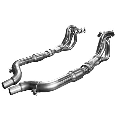 "2015 + Mustang GT 5.0L 2"" x 3"" Stainless Steel Long Tube Header w/ Catted Connection Pipe"