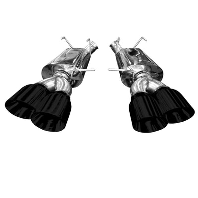 2013-2014 Ford Mustang Shelby GT500 Quad Tip Axleback (BLACK TIPS)