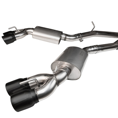 "2016+ Cadillac CTS-V 3"" GREEN Catted Exhaust w/ Black Tips"