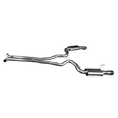"2015+ Ford Mustang GT 5.0L Full 3"" Exhaust System w/ H-Pipe & Polished Tips"