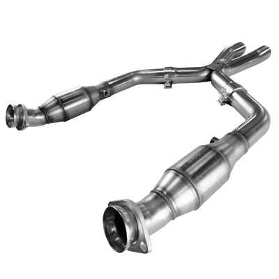 "2005-2010 Ford Mustang GT 3"" Stainless Steel GREEN Catted X Pipe 4.6L"