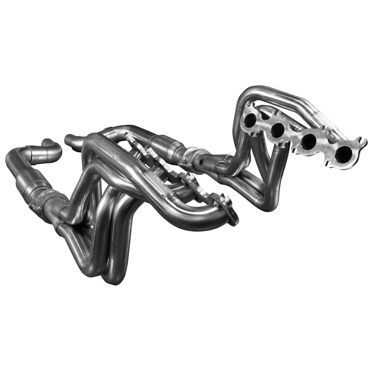 "2015 + Mustang GT 5.0L 1 7/8"" x 3"" Stainless Steel Long Tube Header w/ GREEN Catted Connection Pipe"