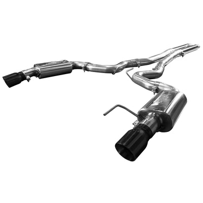 "2015+ Ford Mustang GT 5.0L OEM to 3"" Cat Back Exhaust w/ H-Pipe & Black Tips"