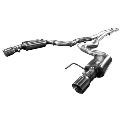 "2015+ Ford Mustang GT 5.0L OEM to 3"" Cat Back Exhaust w/ X-Pipe & Polished Tips"