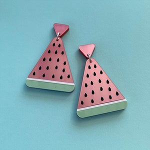 Summer Slice Watermelon Statement Dangles