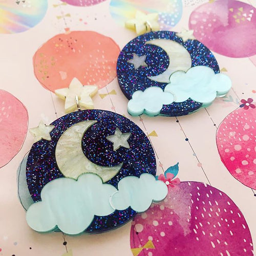 Butter Dreams - Starry, Starry Night Statement Dangles
