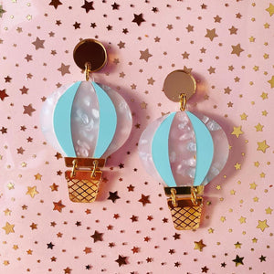 Butter Dreams - Take Me Away Hot Air Balloon Statement Dangles