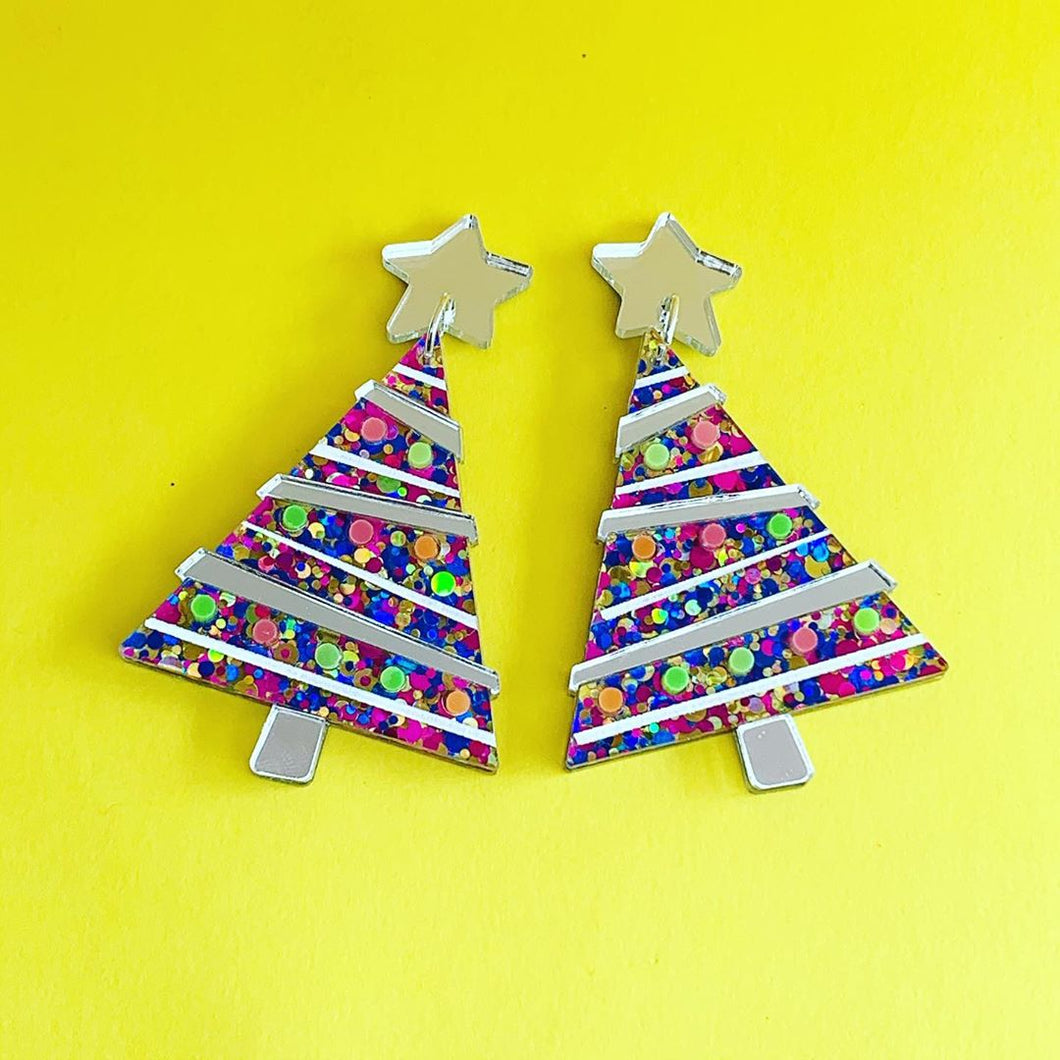 Get Lit Christmas Tree Statement Dangles