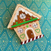 Holiday House Gingerbread Christmas Brooch