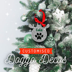 Customised Pet Christmas Baubles - CHOOSE YOUR COLOUR