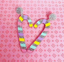Caitie Canes - Rainbow Candy Cane Statement Dangles