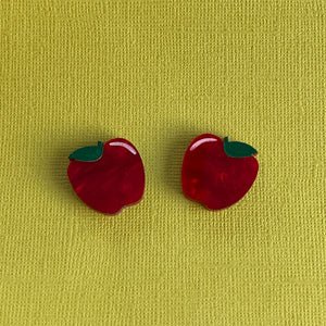 Lil Delicious Apple Marble Studs