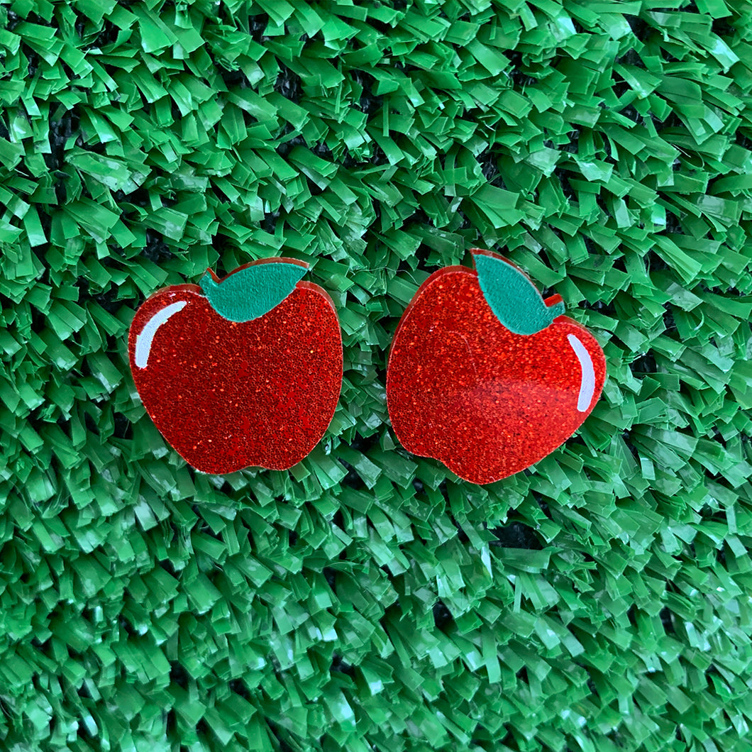 Lil Delicious Apple Glitter Studs
