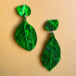 Botanical Gardens Hand Painted Leaf Dangles