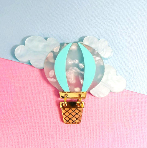 Butter Dreams - Up and Away Hot Air Balloon Brooch