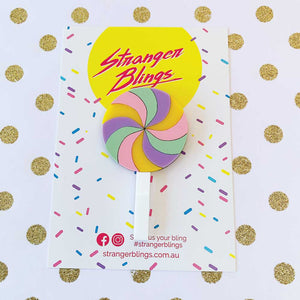 Rainbow Lollipop Brooch