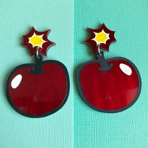Cherry Bomb Statement Dangles