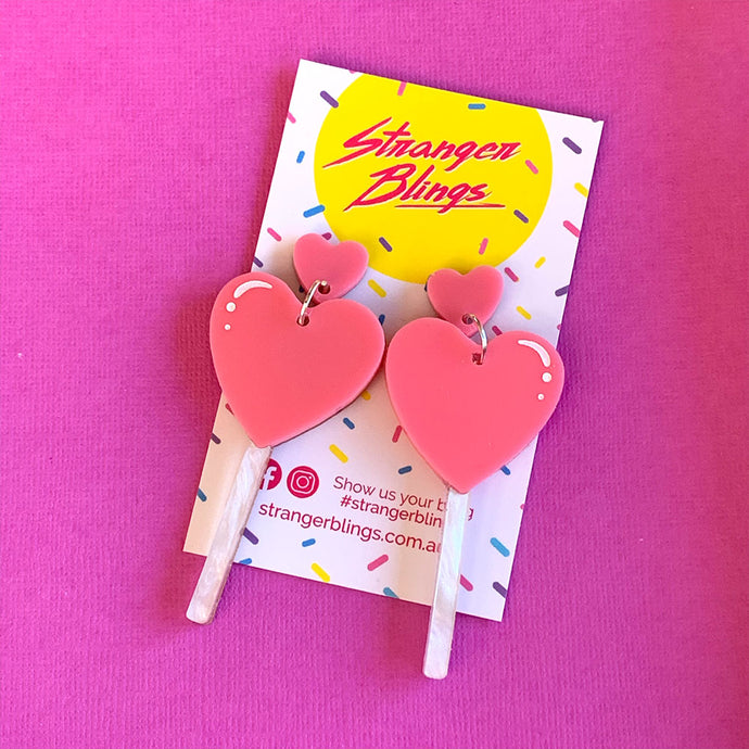 Love Pop Candy Statement Dangles