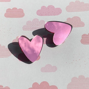 Big Love Mega Heart Studs