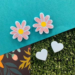 Spring Bling Daisy Duo Stud Set
