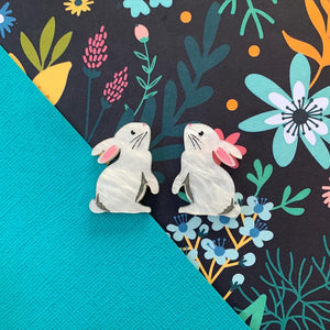 Spring Bling Regal Rabbit Easter Studs