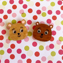 Share the Love Teddy Bear Statement Stud Set