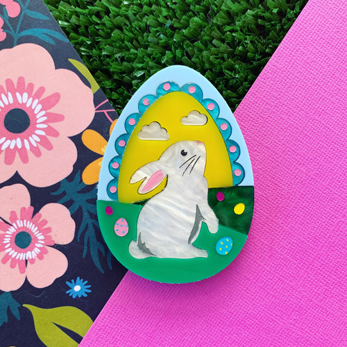 Good Hare Day Easter Brooch
