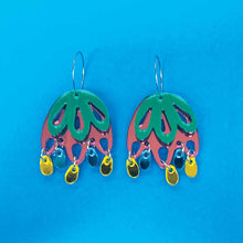 Jelly Jewel Statement Dangles - Rainbow Multi