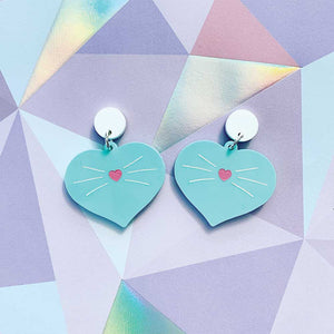 Love Kitty Dangles - Aqua