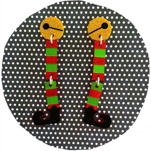 Hey Buddy! Elf Leg Christmas Dangles