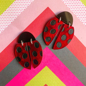 Lily Bug Lady Beetle Statement Studs