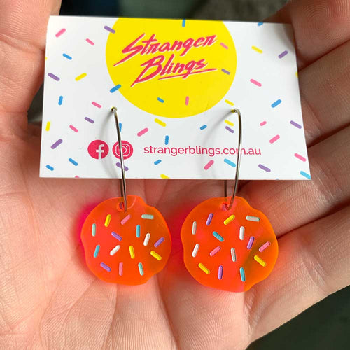 Neon Sprinkle Hoop Mini Dangles