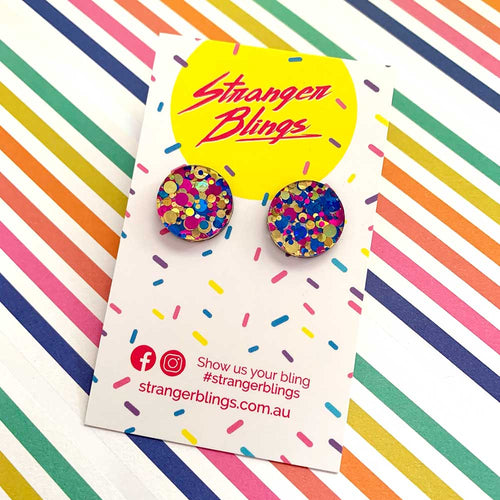 Party Dot Studs - CHOOSE YOUR COLOUR