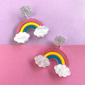 High Hopes Pastel Rainbow Statement Dangles