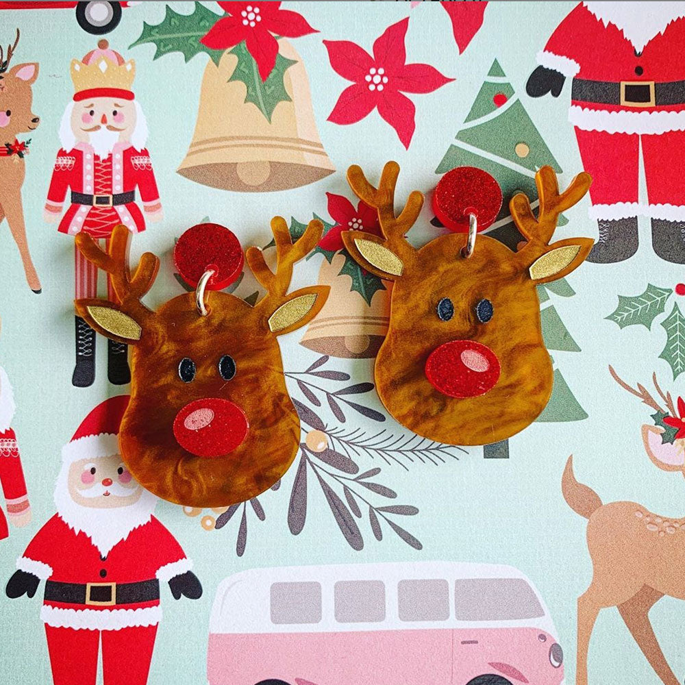 Rudy - Santa's Little Sidekick Reindeer Christmas Dangles