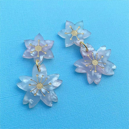 Butter Dreams - Sweet Sakura Cherry Blossom Dangles