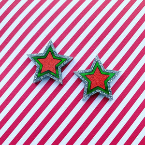 Christmas Kaleidoscope Star Statement Studs
