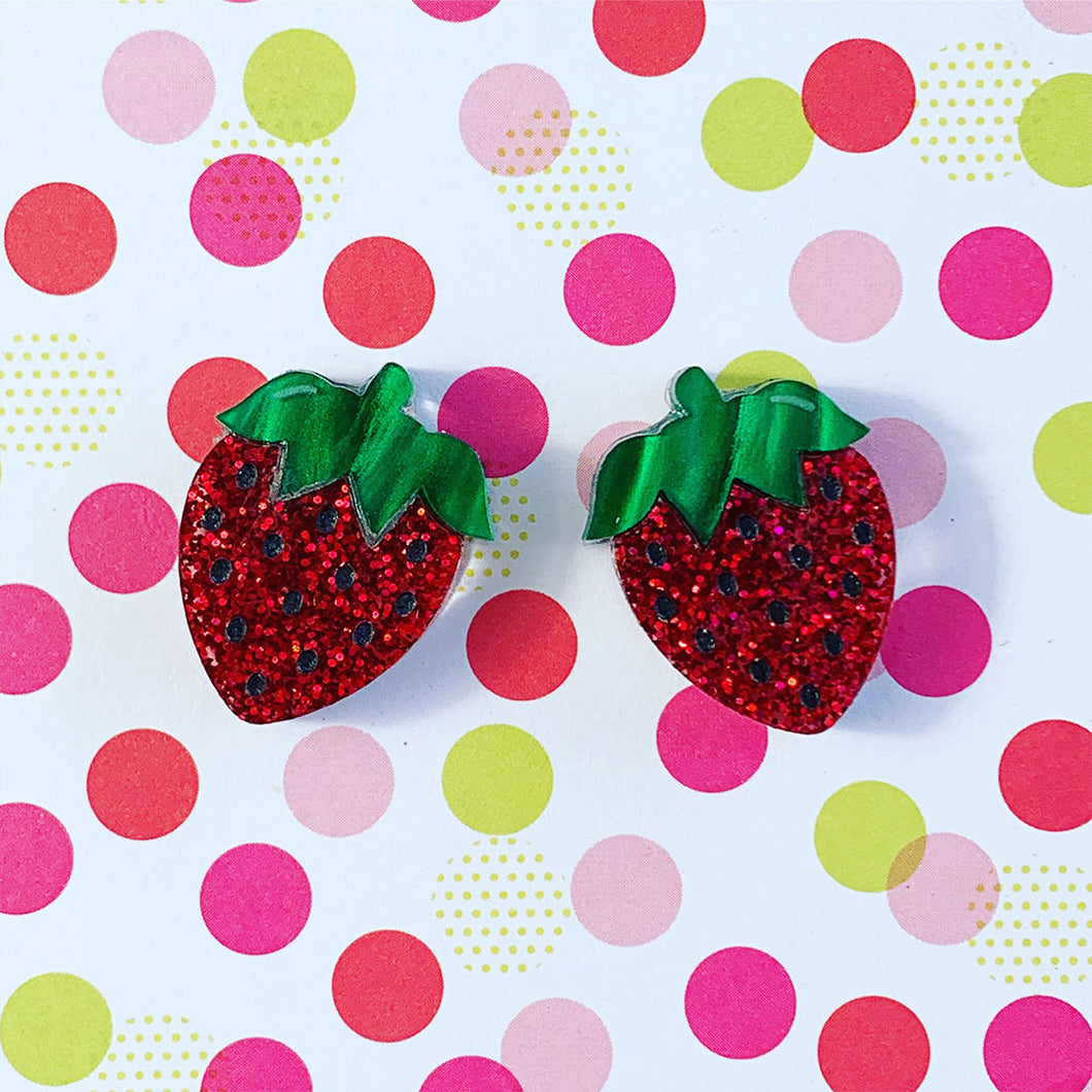 Berry Sweet Strawberry Studs
