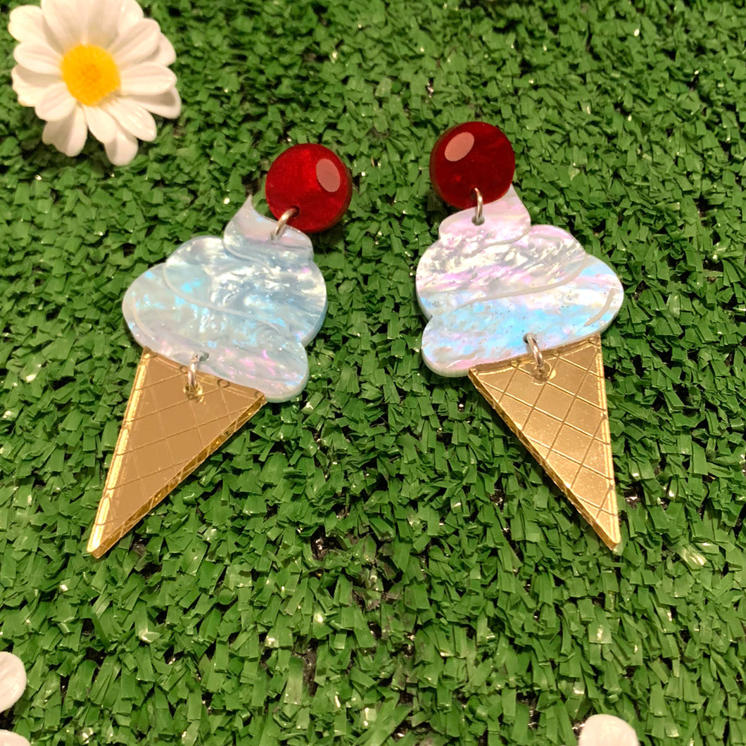 Ms Whippy Giant Ice Cream Acrylic Dangles - Teenage Dream