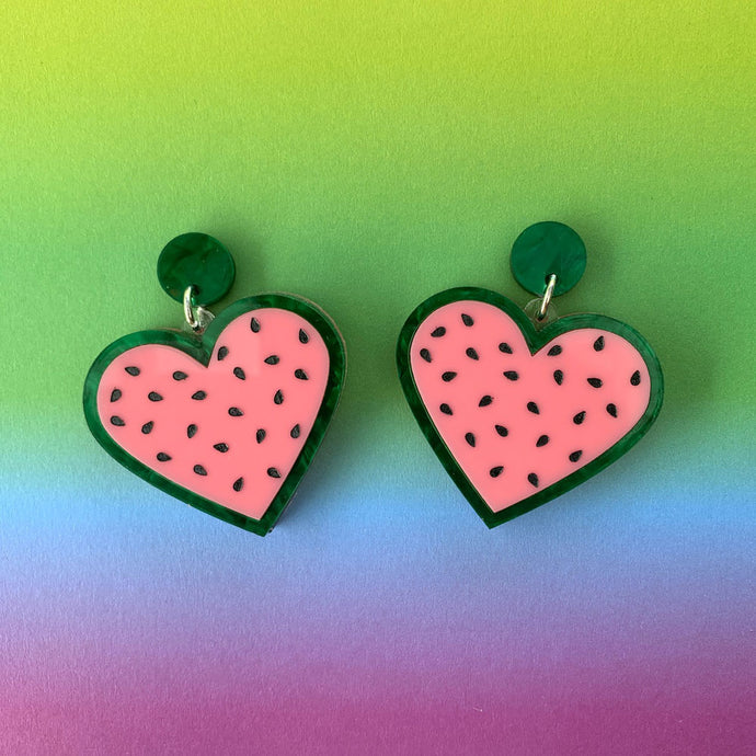 Love Melon Watermelon Statement Dangles