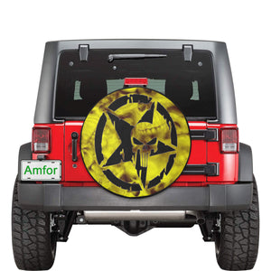 Black Skull jeep 30 Inch Spare Tire Cover.