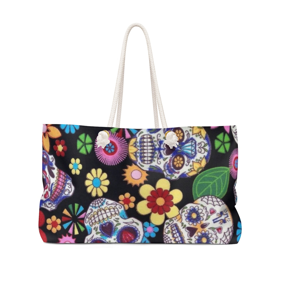 Black candy skull beach weekender Bag