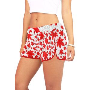 Maple leaf jeep girl Women's All Over Print Relaxed Shorts (Model L19)