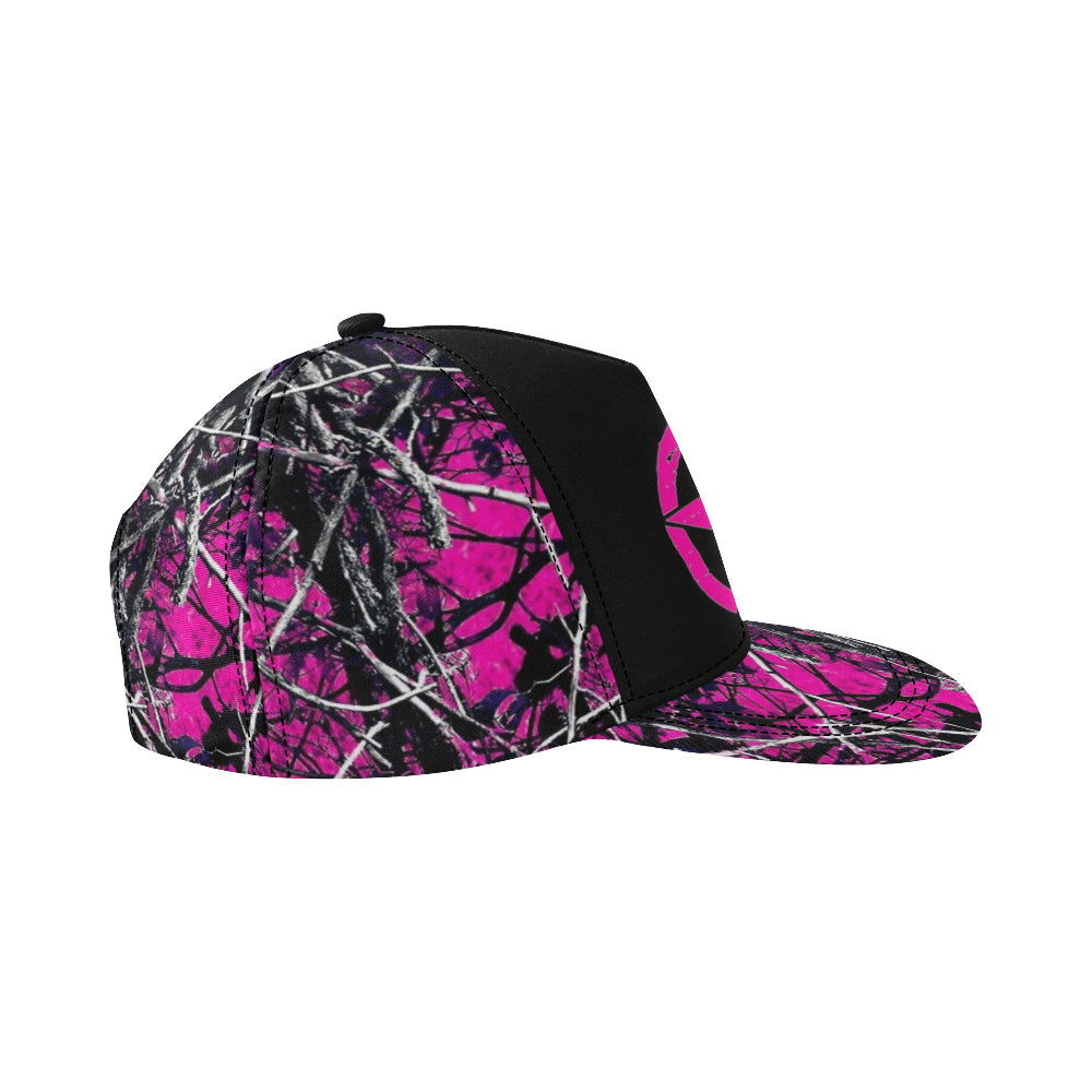 Pink Muddy Girl Essentials All Over Print Snapback Hat D