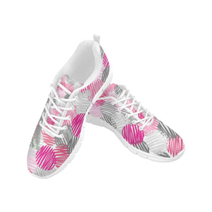 Hot pink crazy bit-h Women's Breathable Running Shoes (Model 055).