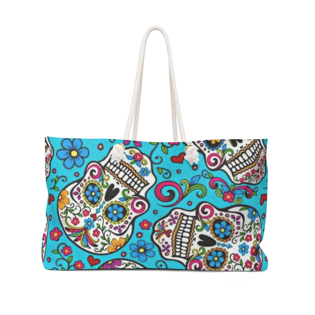 Jeep blue candy skull weekender Bag