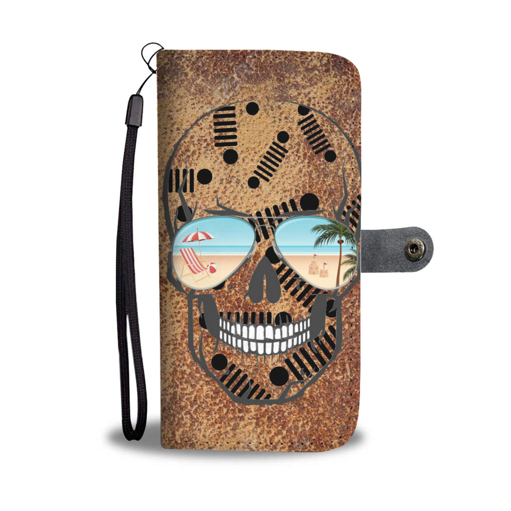 Jeep skull wallet case